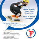 Give speed skating a try at our open house April 9
